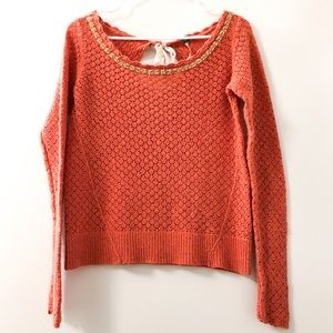 Free People Coral Knit Sweater Size Medium